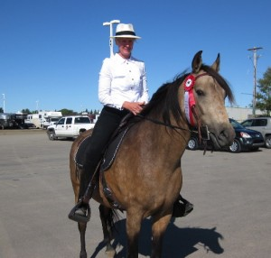Laurie and Beethoven at the All Breed Gaited Show