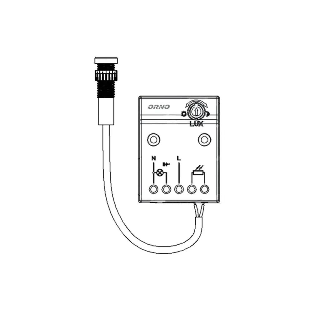 ORNO twilight switch 2300W IP65 OR-CR-233