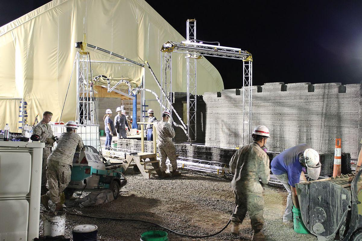 Using 3D Printing to Build Structures and Self-Sufficiency in the Navy and Marine Corps