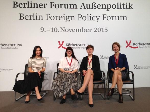 From left to right: FutureLab Europe members Doris Manu (Romania), Anja Aune Selmer (Norway), Linda Öhman (Finland/Germany), Zuzana Novakova (Slovakia)