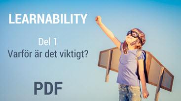 Varför Learnability?