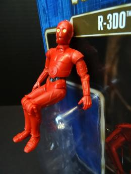 Right out of his bubble, R-3DO is eager to pose for you.