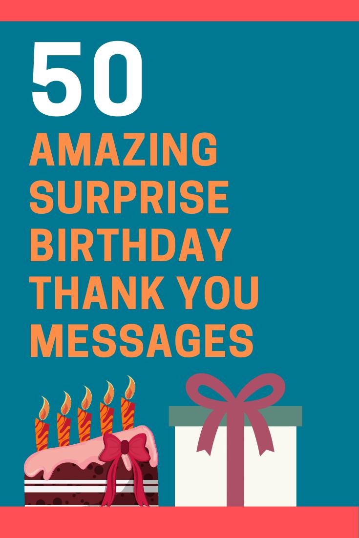 Happy Birthday Thank You Quotes : happy, birthday, thank, quotes, Thank, Surprise, Birthday, Party, Messages, FutureofWorking.com