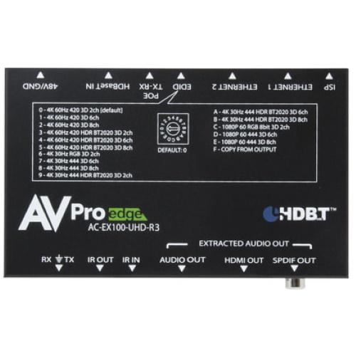 AVProEdge AC-EX100-UHD-KIT-P - ConferX HDBaseT 100 Meter Extender Kit with Bi-Directional Power - Future Ready Solutions