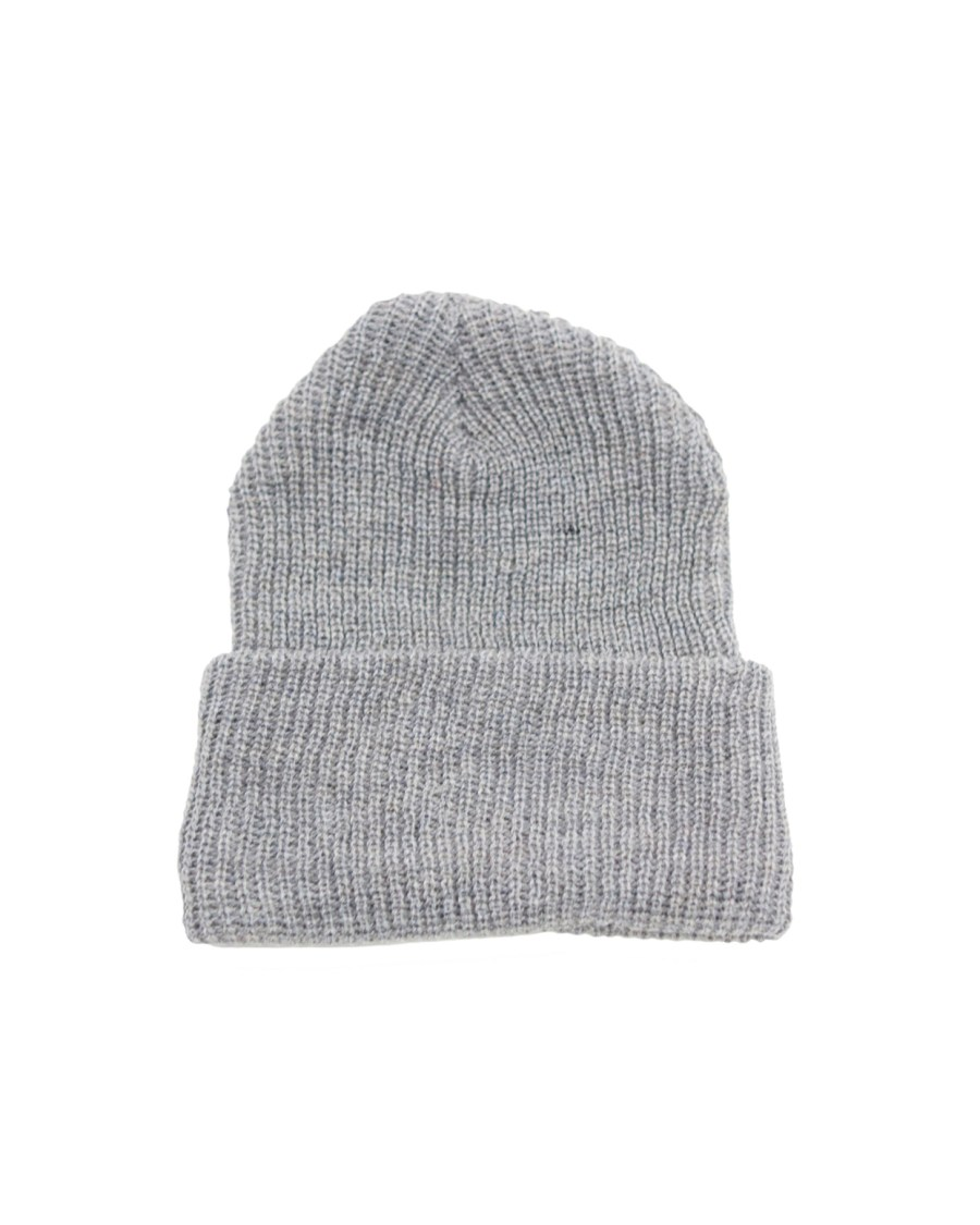 Gray Rib Knit Beanie