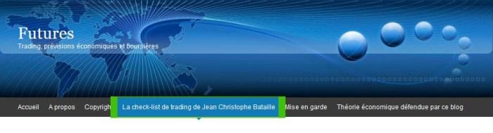 Check-list de trading de JCB copie