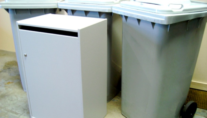 Shred Containers | Confidential Waste Bins & Lockable Shredding Bin