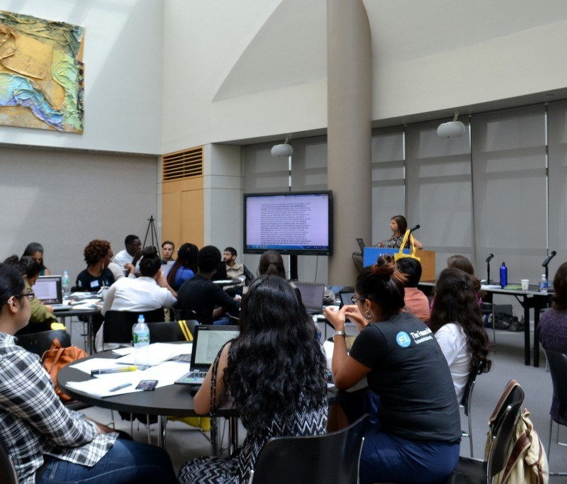 Danica Savonick maps out CUNY resources and guides mentors through a history of student activism in CUNY.