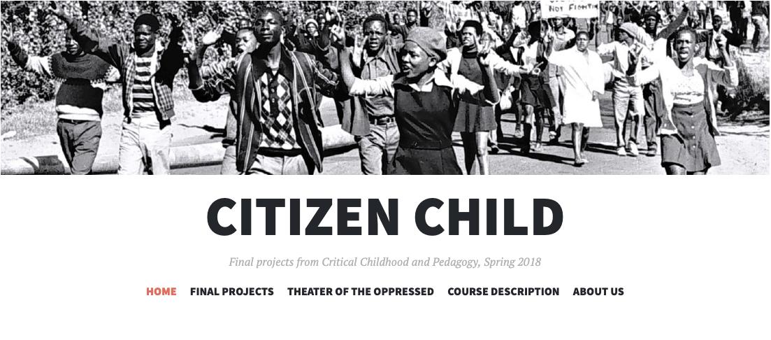 Screenshot from Citizen Child website
