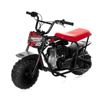 ]Mega Moto – Gas Mini Bike – 105CC/3.5HP Without Suspension (MM-B105-RB)(Red)