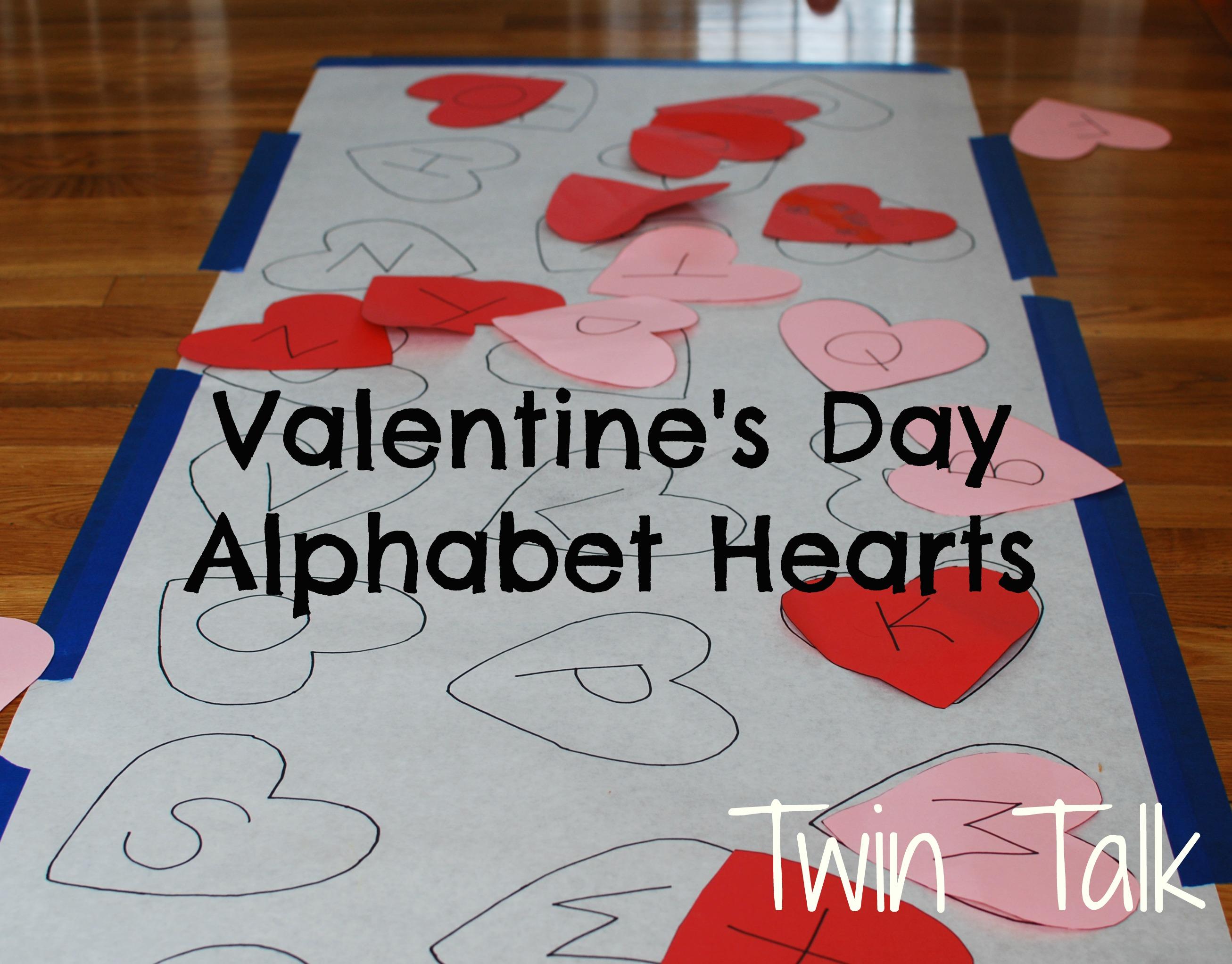Valentine S Alphabet Matching Game Twin Talk