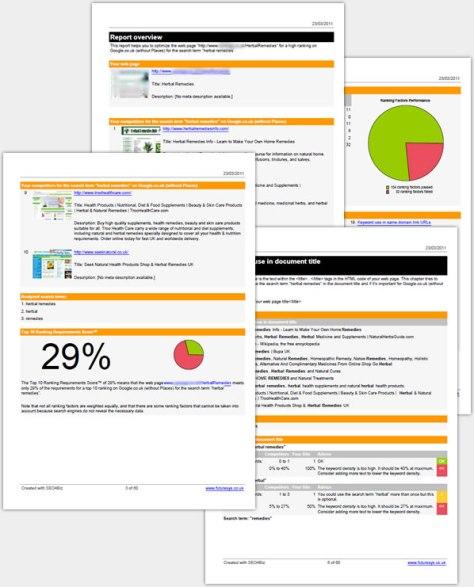 SEO Optimisation Report