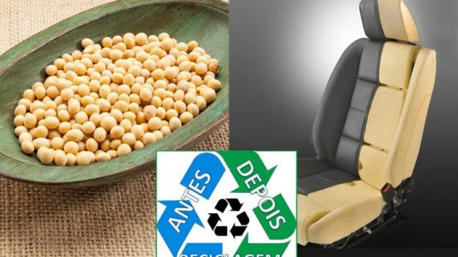 Montadora já aplica vários materiais alternativos em seus veículos, como a sobra de grãos de soja, usada na fabricação da espuma de assentos e encostos dos bancos