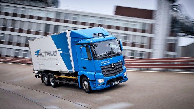 Mercedes-Benz inicia testes com caminhão elétrico pesado