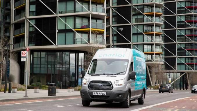 Ford lança serviço de vans on-demand Chariot em Londres
