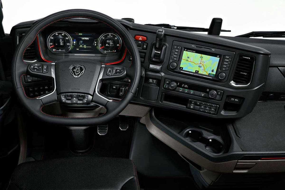 Painel da nova geração de caminhões Scania