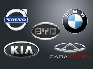 Vendas de veículos importados
