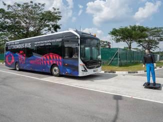 ônibus autônomos em Singapura