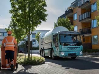 caminhões elétricos da Volvo