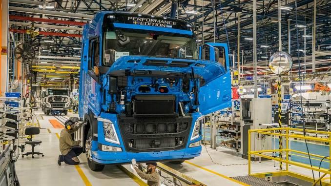 Linha de produção da Volvo