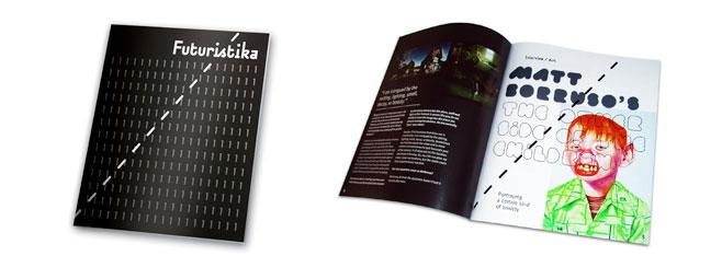 Futuristika Magazine 1. sayı kapak ve iç sayfa