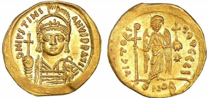Justinien 1 Solidus 527-563