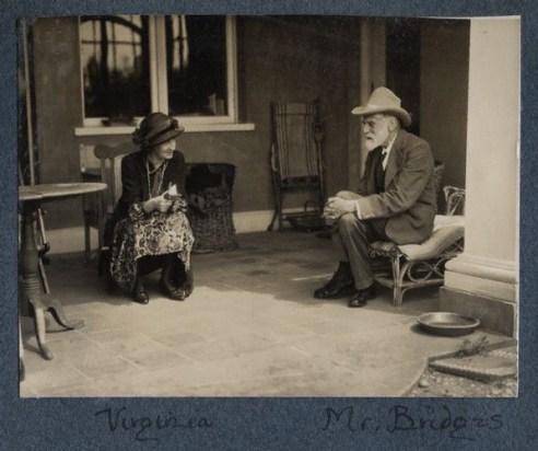 NPG Ax142575,Virginia Woolf (nÈe Stephen); Robert Bridges,by Lady Ottoline Morrell