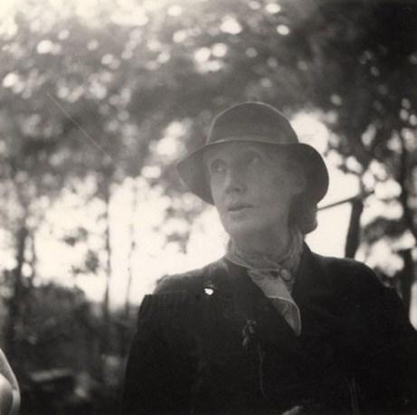 NPG Ax125376,Virginia Woolf (nÈe Stephen),by Barbara Strachey (Hultin) (later Halpern)