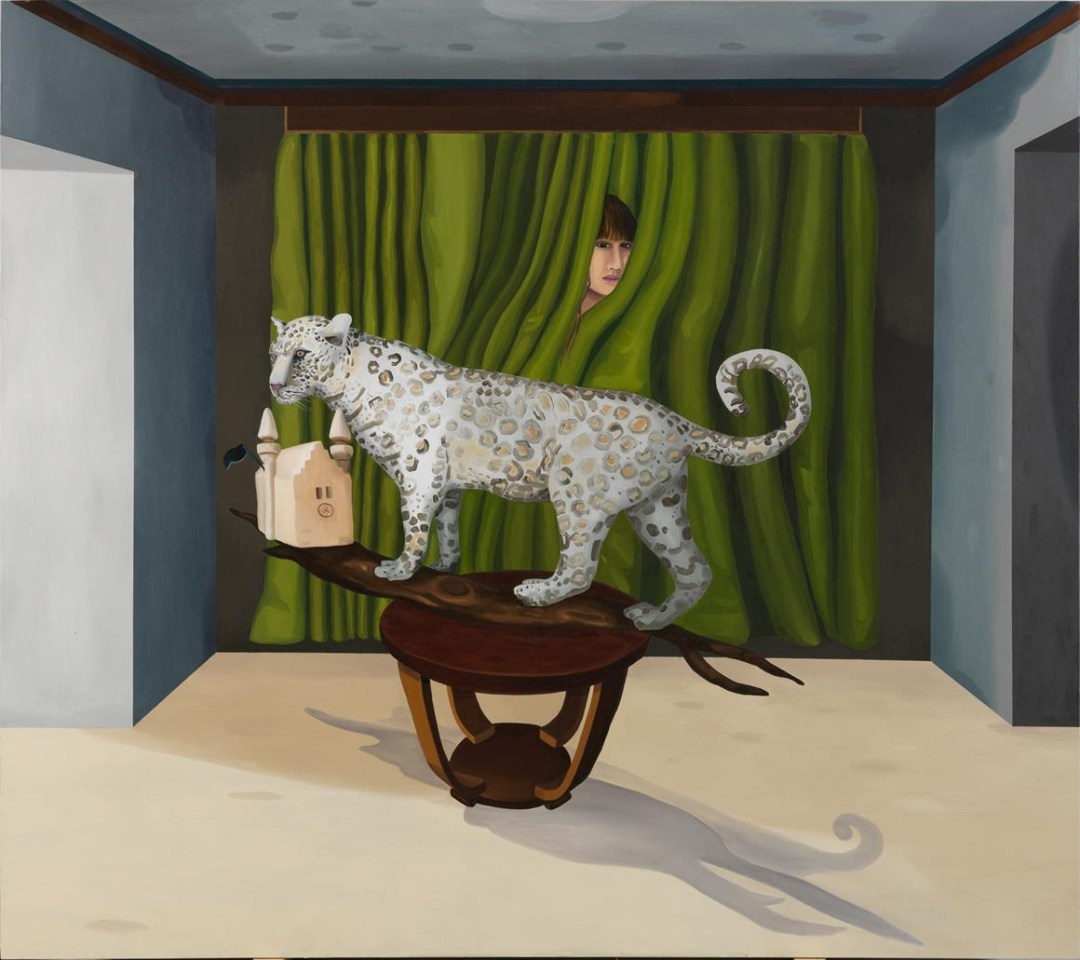 Yeşim Akdeniz, 2014, Mr Jung and Me, oil on canvas, 160 x 180 cm