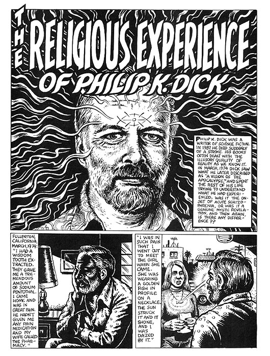 The Religious Experience of Philip K. Dick by R. Crumb from Weirdo #17 1