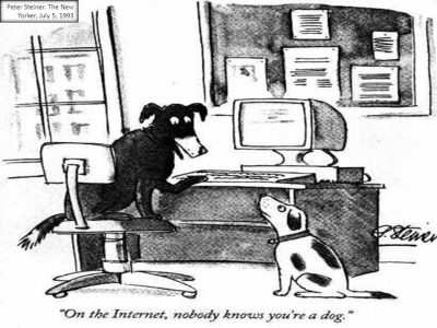 Peter Steiner - The New Yorker - 1993 - Dogs and Internet