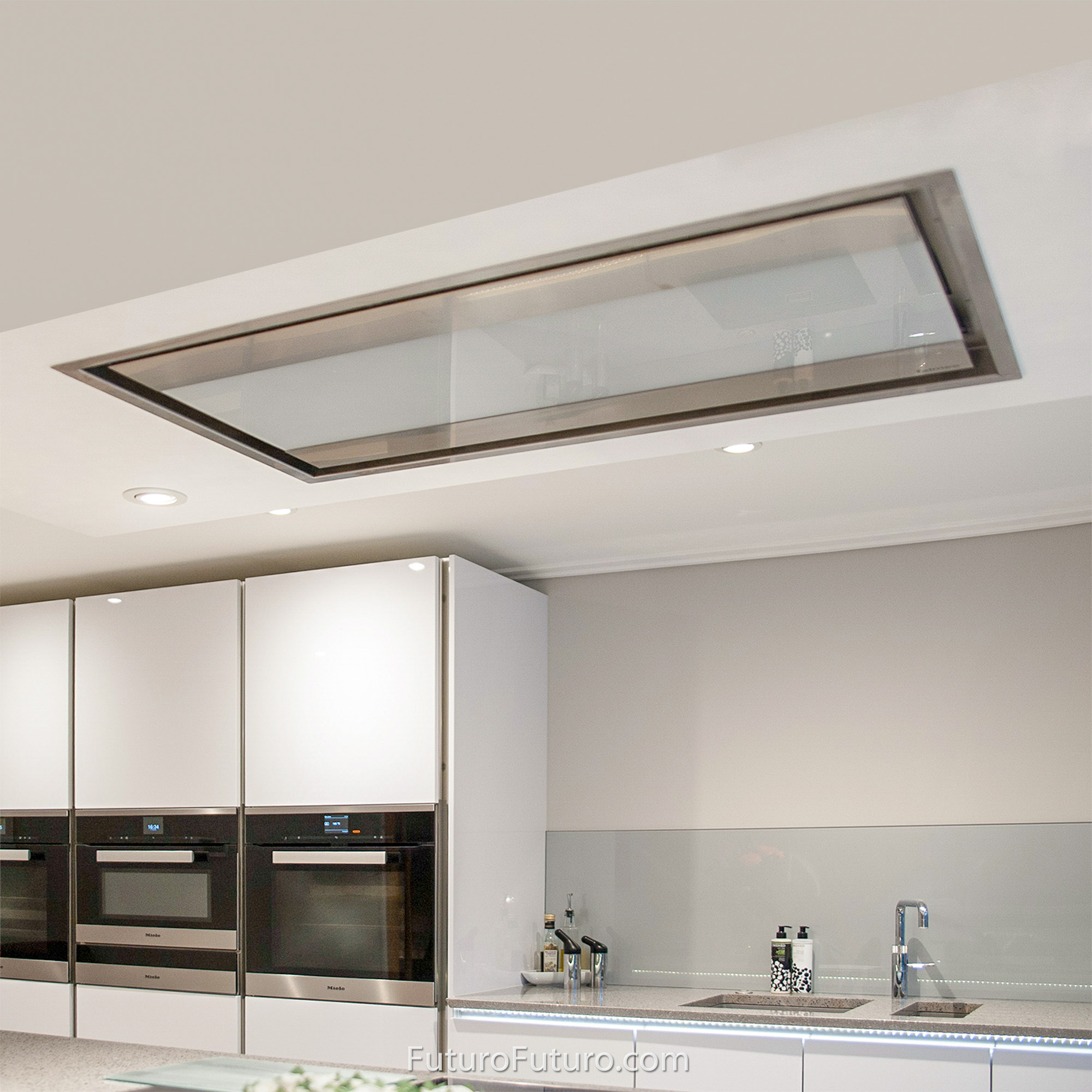 range hood 38 inch skylight ceiling soffit built in by futuro futuro