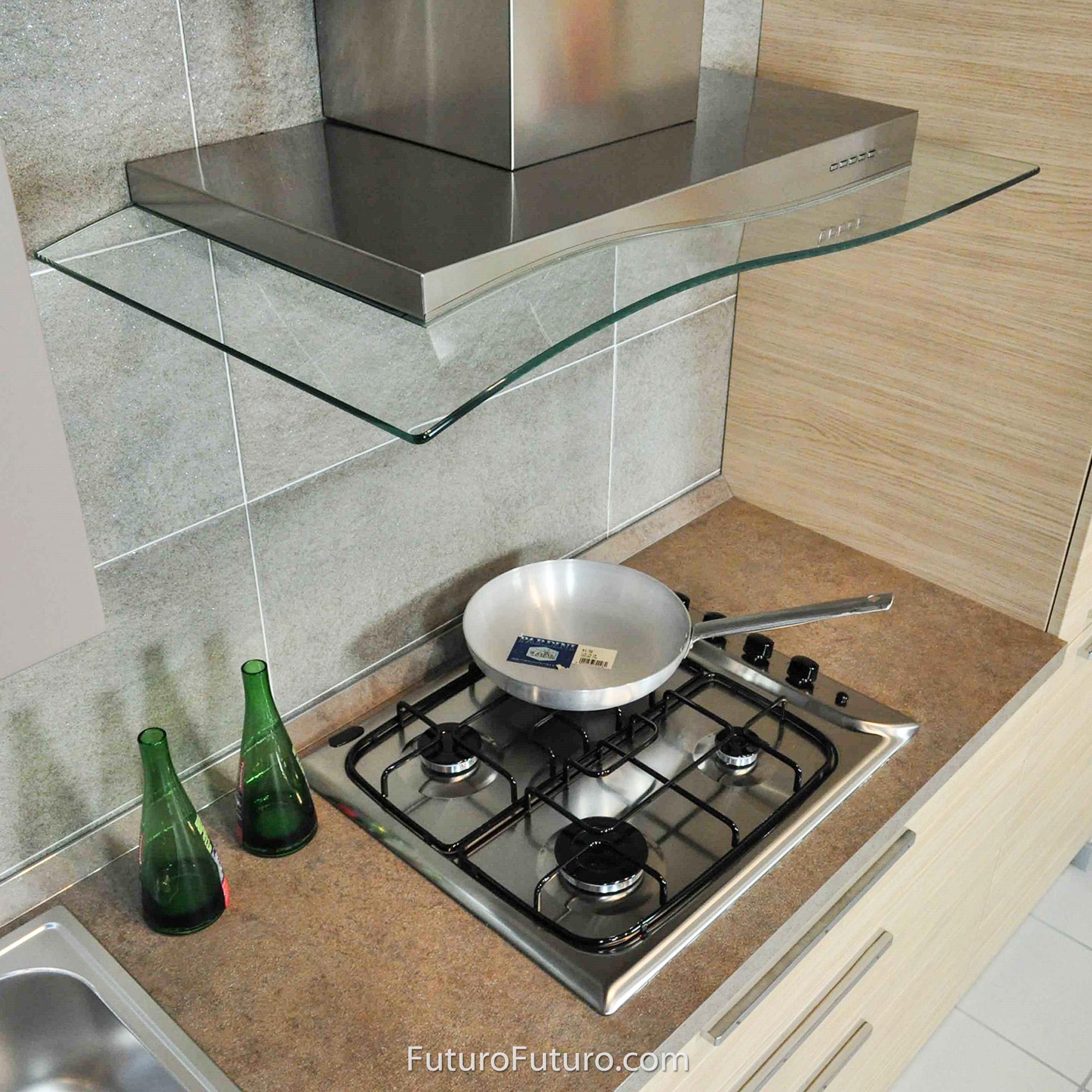 range hood 36 inch mystic glass wall mount by futuro futuro