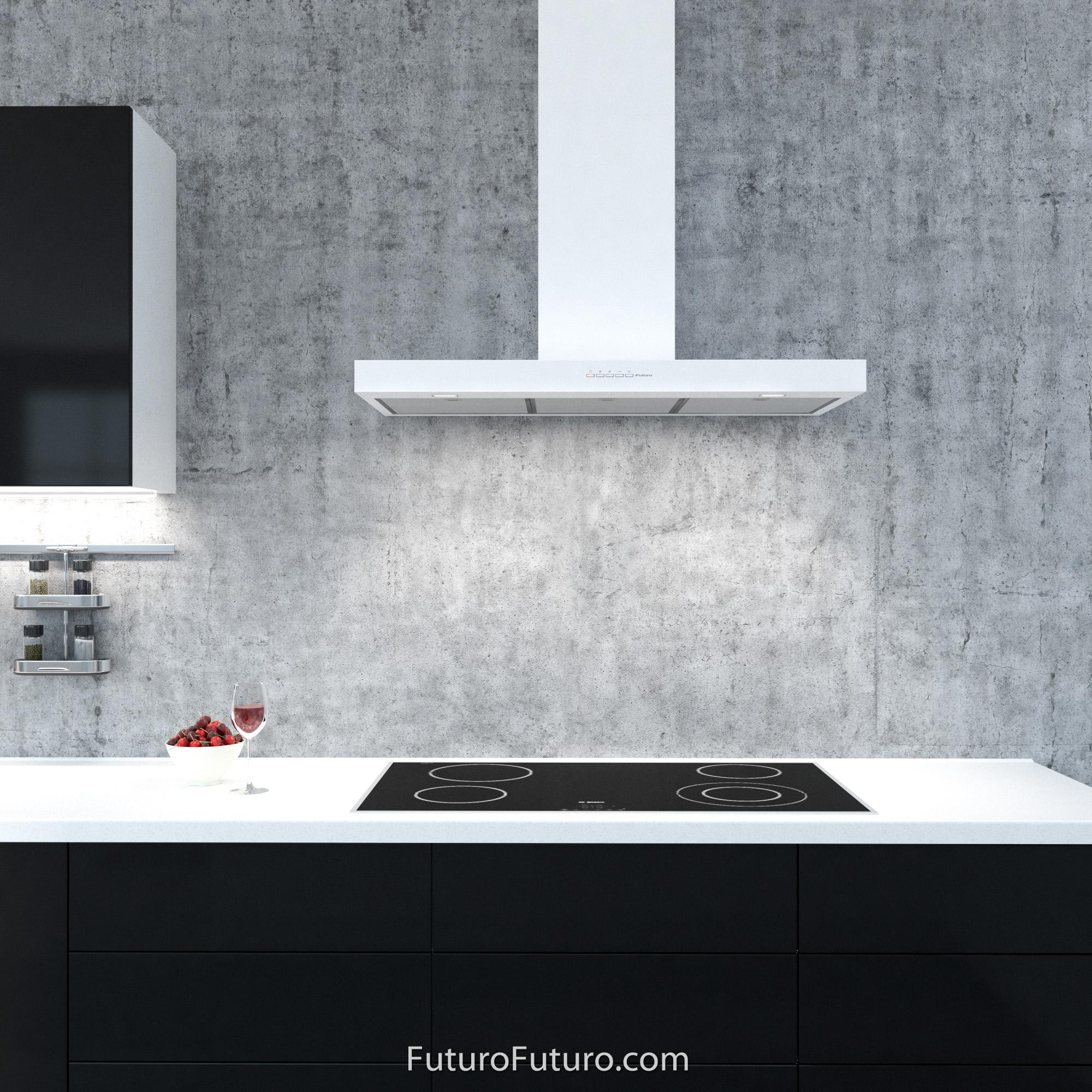 range hood 36 inch minimal white wall mount by futuro futuro