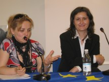 Dott.ssa Simona Cecilia Farcas e Marina Bilha al Convegno Left behind. Milano, 26 maggio 2010