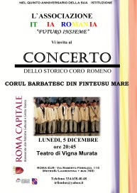 Corul bărbătesc din Finteuşu Mare a Roma-EUR, Via Roberto Ferruzzi, 110 (Metro B – Laurentina + bus 765)