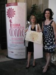 """Premiazione in Campidoglio: Avv. Monica Marinescu (nella foto con Magda Arama Chirnoaga) riceve il premio """"Roma Capitale delle donne"""" Foto: Copyright © Simona C. Farcas"""