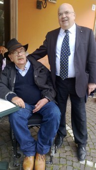 Nobile Avv. Arturo Manti De Amicis con l'amico Conte Prof. Fernando Crociani Baglioni