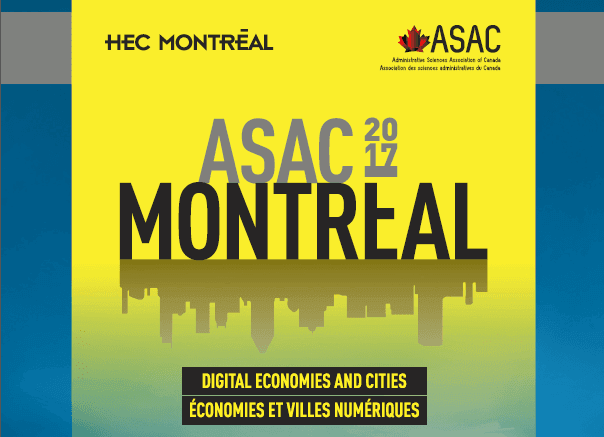ASAC Conference HEC Montreal 2017 - Conférence