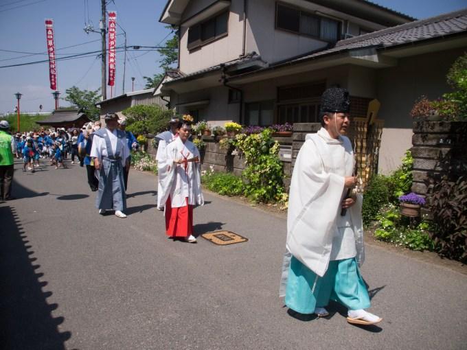 草戸稲荷神社 卯之大祭 コンコン行列