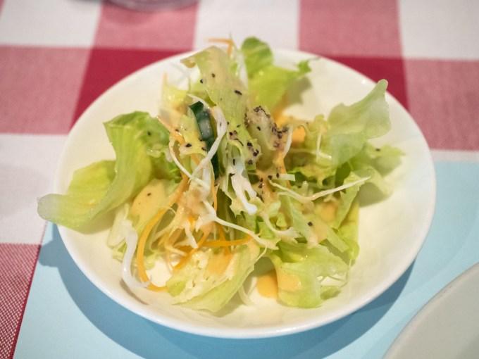 チキンカツのサラダ みやけ亭@倉敷市阿知(本通)
