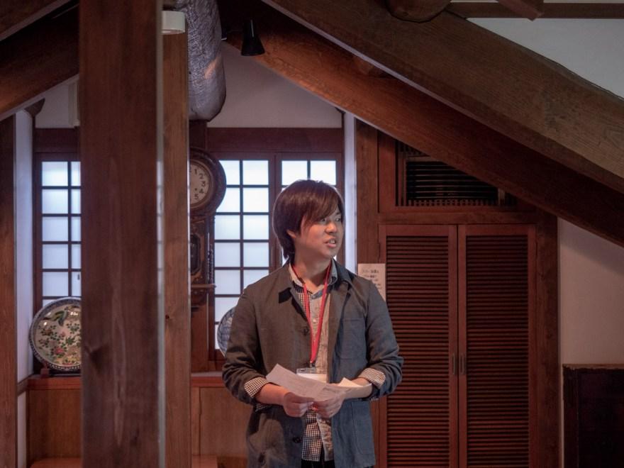 第1回倉敷とことこ 春の交流会@倉敷美観地区:カモ井での光景 (司会者 やぶなお)