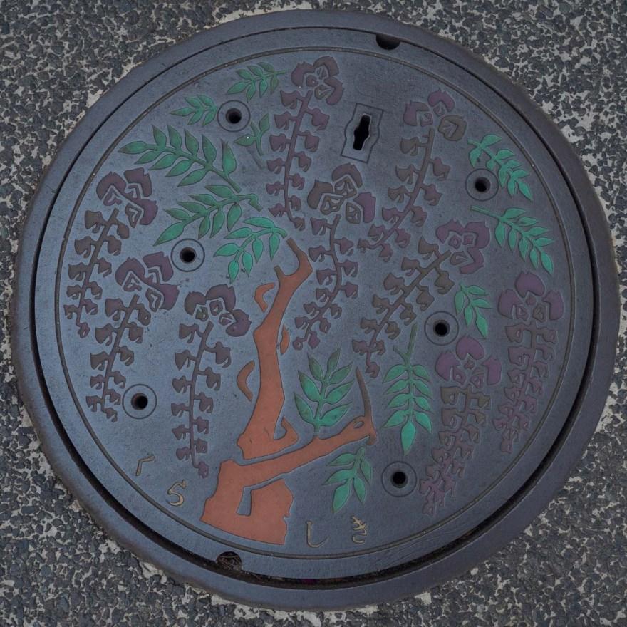 第1回倉敷とことこ 春の交流会@倉敷美観地区:本通りにある阿知の藤のマンホール