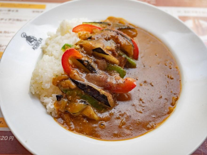 神戸屋:ナスと挽き肉のカレー