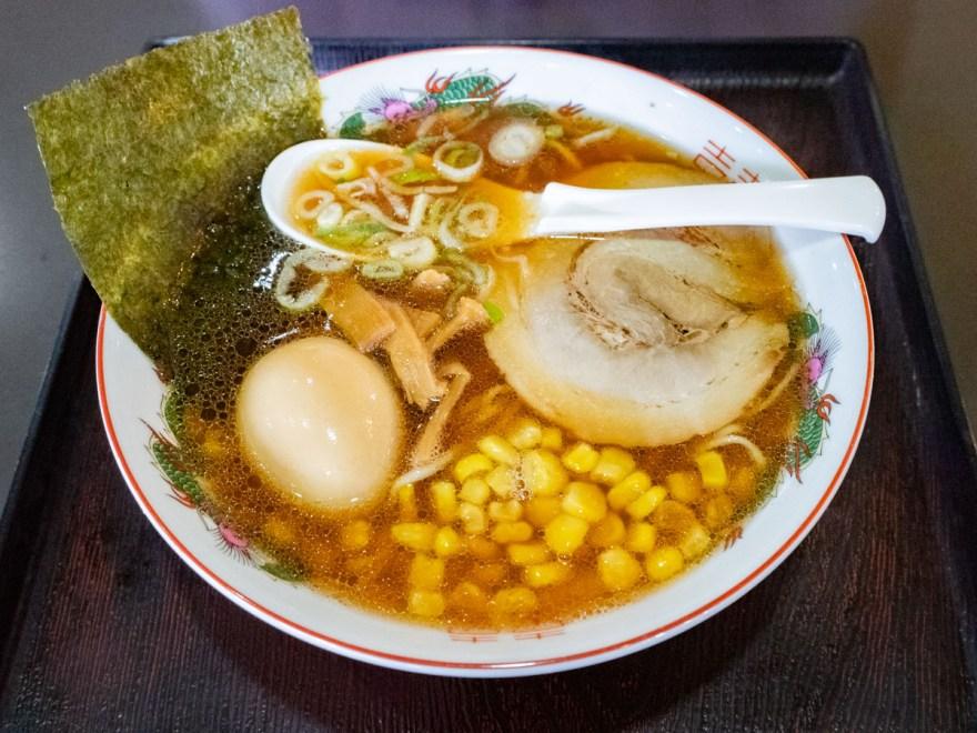 味の蔵:あっさり尾道ラーメン(味玉&コーントッピング)