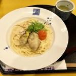 五右衛門パスタ冬おすすめ『広島産牡蠣と海老の明太チーズクリーム』