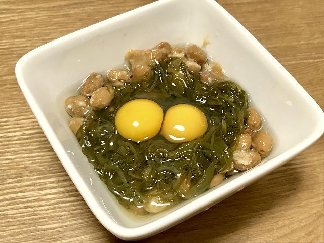 納豆_ダブル月見納豆