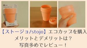 ストージョ stojo エコカップ レビュー ブログ