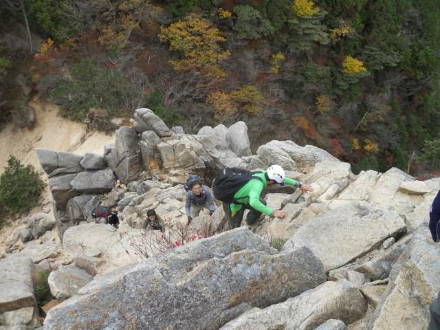キレットを登る1