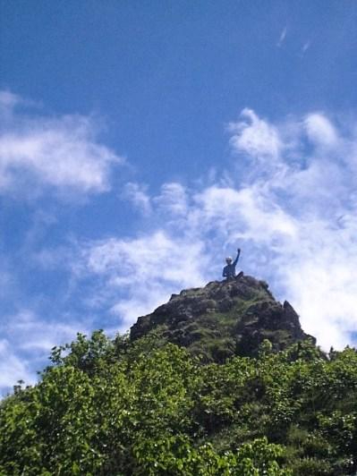 P3トップの岩峰でのASNさん